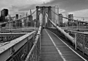 Brooklyn bridge-svartvit
